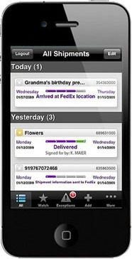 Mobile apps for hassle free shipping