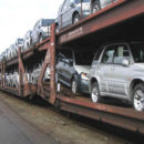 shipping cars on train