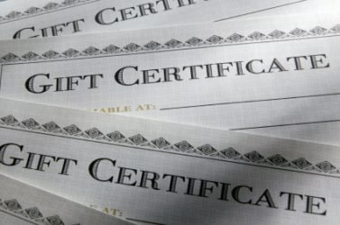 Ship Gift Certificates Via Mail