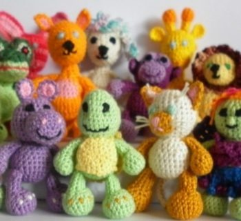 Ship knitted stuffed toys